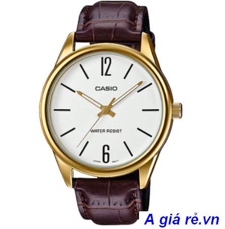 Đồng hồ dây da Casio nam