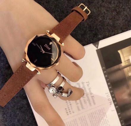 Đồng hồ Dior dây da chính hãng