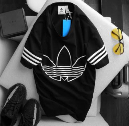 Áo phông kẻ ngang Adidas
