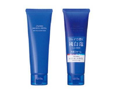 Sữa rửa mặt Shiseido Aqualabel màu xanh