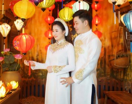 Áo dài cưới cho nam
