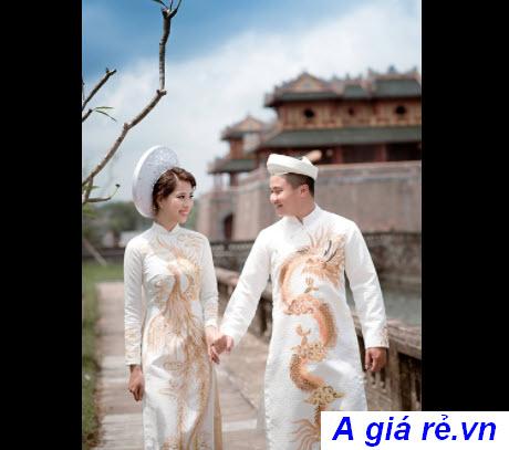 Áo dài cưới rồng phượng