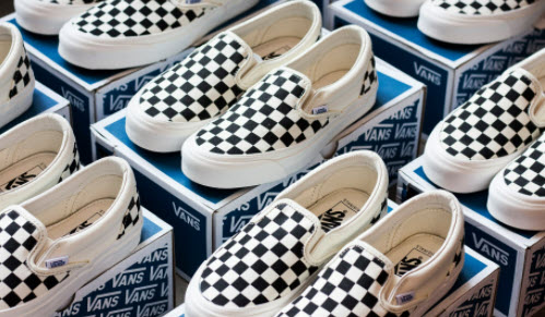 Giày Vans trắng sọc caro
