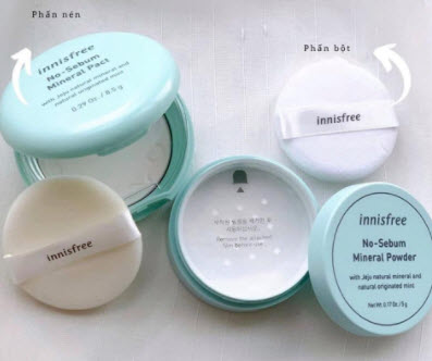 Phấn phủ kiềm dầu Innisfree No-Sebum Mineral Powder