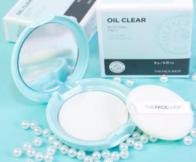 Phấn phủ kiềm dầu The Face Shop Oil Clear
