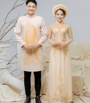 Áo dài cưới nam đẹp